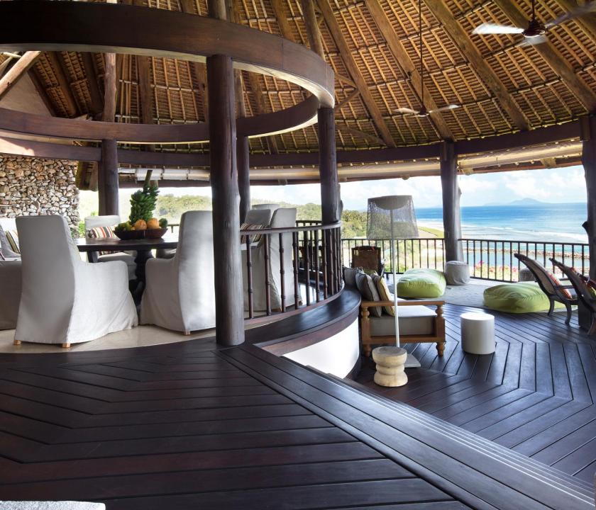 Fregate Island Private / Banyan Hill Estate - terasz (Seychelle szigeteki utazások)