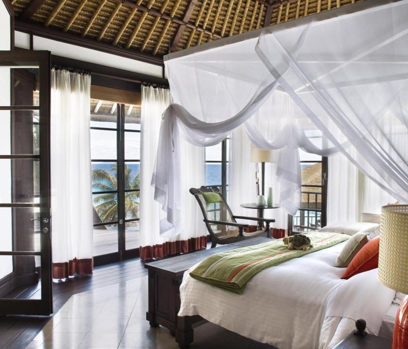 Fregate Island Private / Private Pool Twin Residence - hálószoba (Seychelle szigeteki utazások)