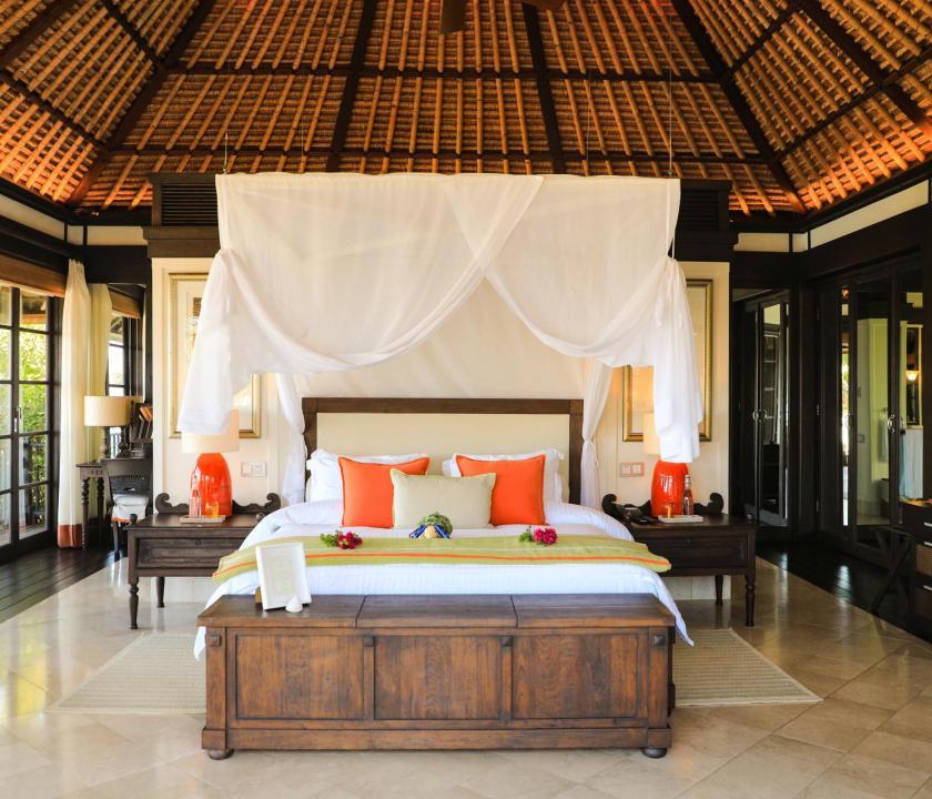 Fregate Island Private / Private Pool Residence - hálószoba (Seychelle szigeteki utazások)