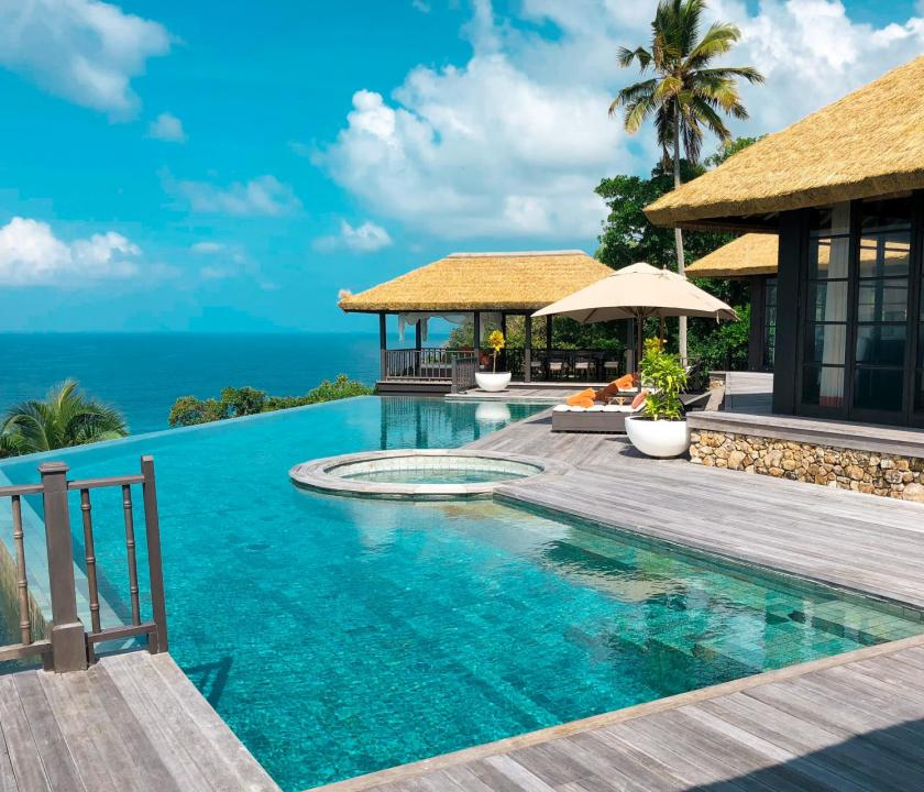 Fregate Island Private / Private Pool Residence - medence (Seychelle szigeteki utazások)