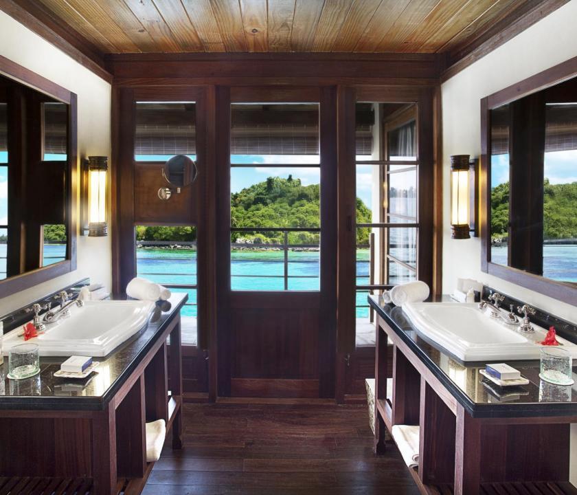 JA Enchanted Island Resort / Enchanted signature villa - fürdőszoba (Seychelle szigeteki utazások)