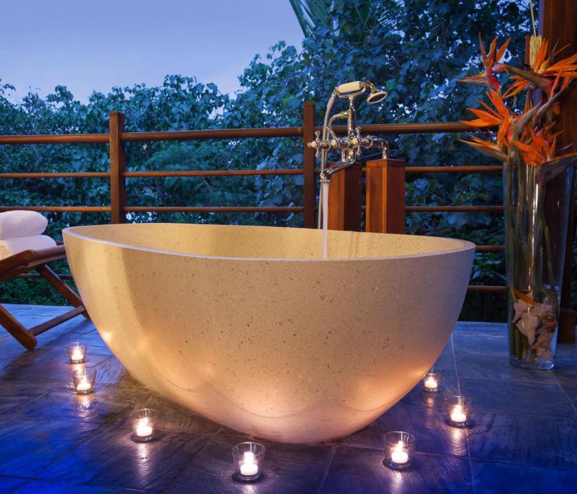 JA Enchanted Island Resort / Private pool villa - fürdőszoba (Seychelle szigeteki utazások)