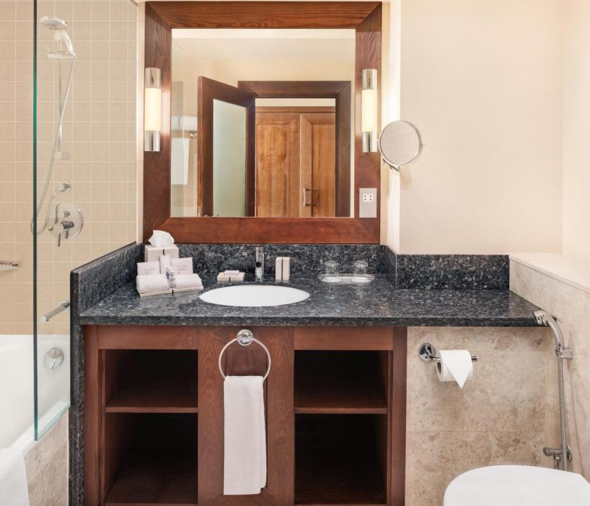 JA Ocean View Hotel / Superior seaview room - fürdőszoba (Dubai utazások)