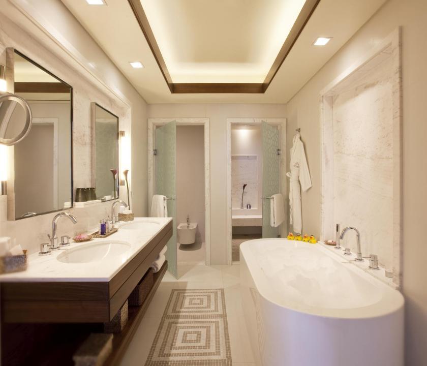 JA Palm Tree Court Hotel / Beachfront residence one bedroom suite - fürdőszoba (Dubai utazások)
