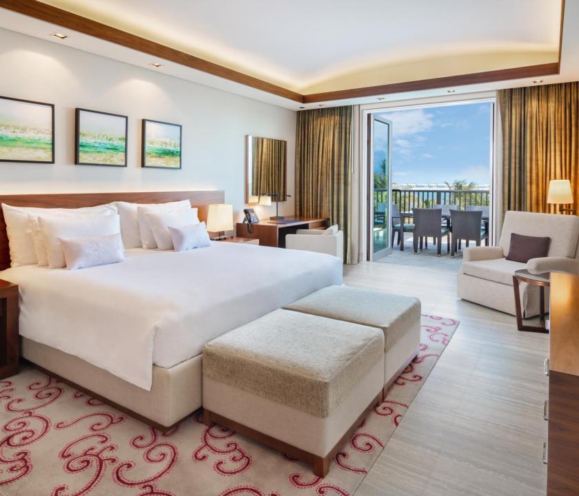 JA Palm Tree Court Hotel / Seaview residence two bedroom suite - hálószoba (Dubai utazások)