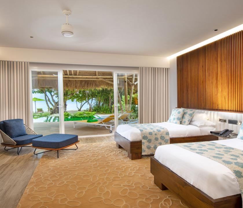 Emerald Maldives Resort & Spa / Family Beach Villa with Pool - hálószoba (Maldív-szigeteki utazások)
