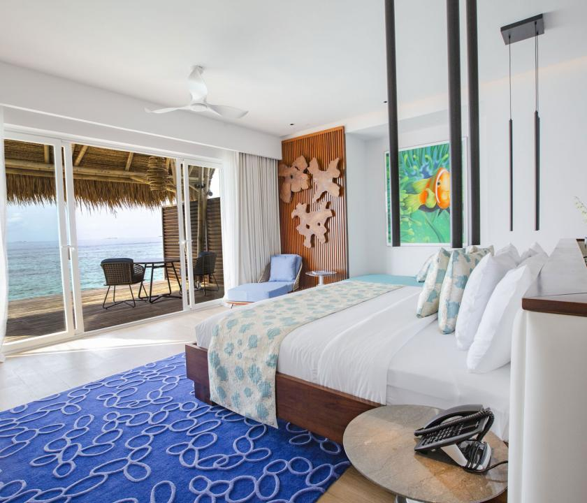 Emerald Maldives Resort & Spa / Jacuzzi Water Villa - kilátás a szobából (Maldív-szigeteki utazások)