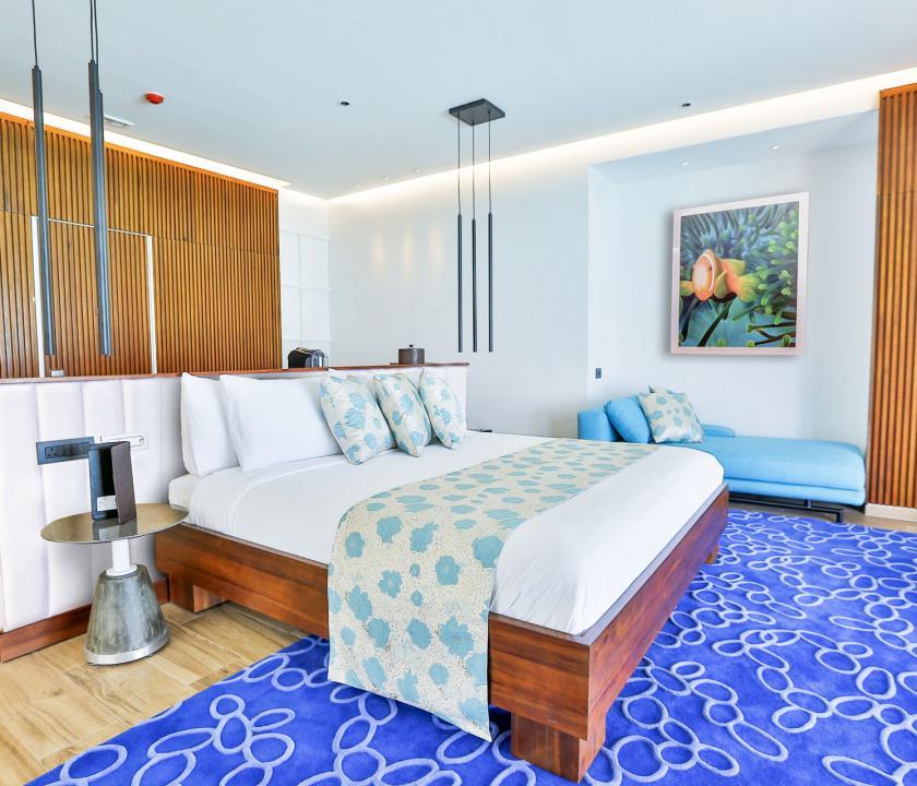 Emerald Maldives Resort & Spa / Water Villa with Pool - hálószoba (Maldív-szigeteki utazások)