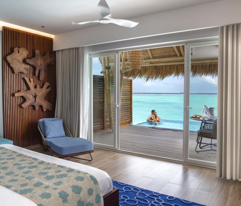 Emerald Maldives Resort & Spa / Water Villa with Pool - kilátás a szobából (Maldív-szigeteki utazások)