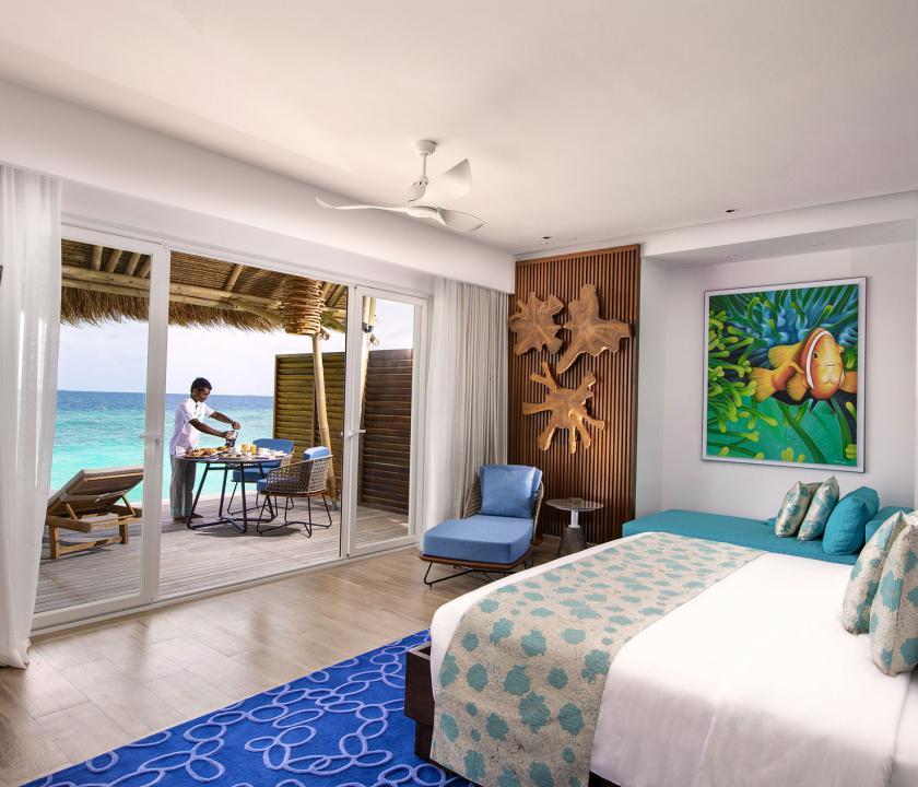 Emerald Maldives Resort & Spa / Water Villa - kilátás a szobából (Maldív-szigeteki utazások)