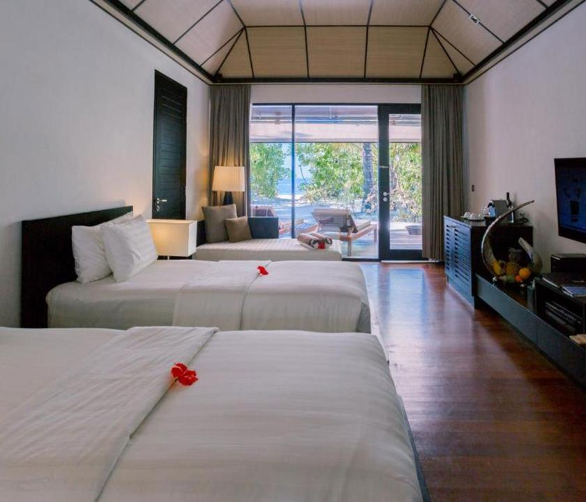 Lily Beach Resort & Spa / Beach Family Villa - hálószoba (Maldív-szigeteki utazások)