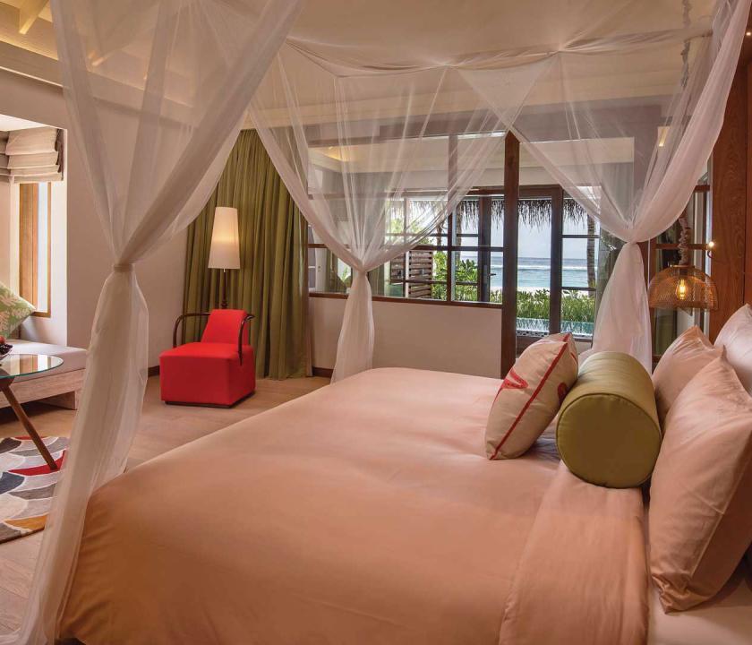 OBLU SELECT at Sangeli by Atmosphere / Beach Family Suite with Pool - hálószoba (Maldív-szigeteki utazások)