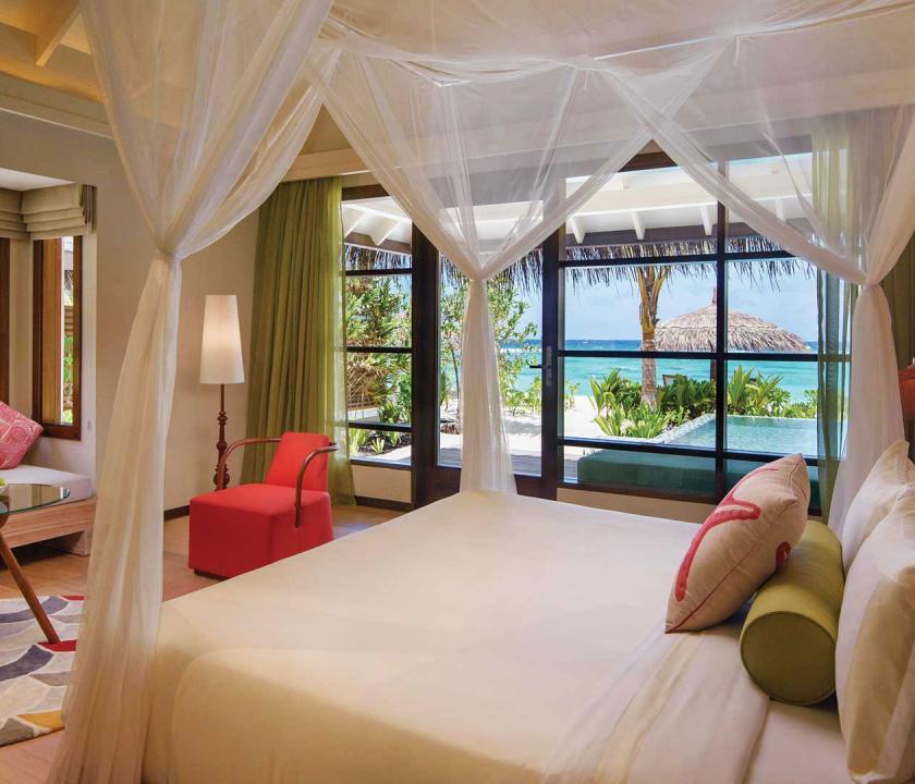 OBLU SELECT at Sangeli by Atmosphere / Deluxe Beach Villa with Pool - hálószoba (Maldív-szigeteki utazások)