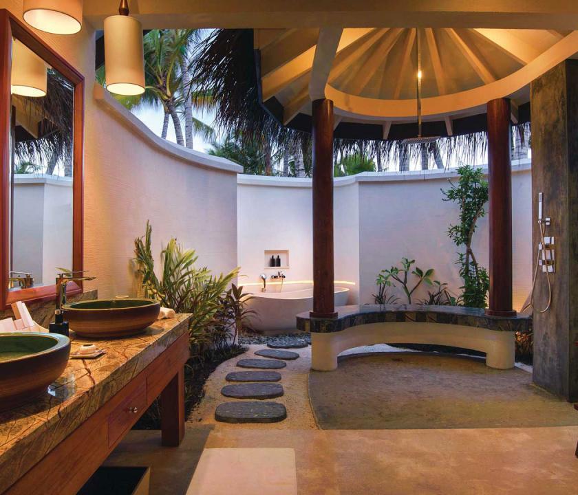 OBLU SELECT at Sangeli by Atmosphere / Deluxe Beach Villa with Pool - fürdőszoba (Maldív-szigeteki utazások)