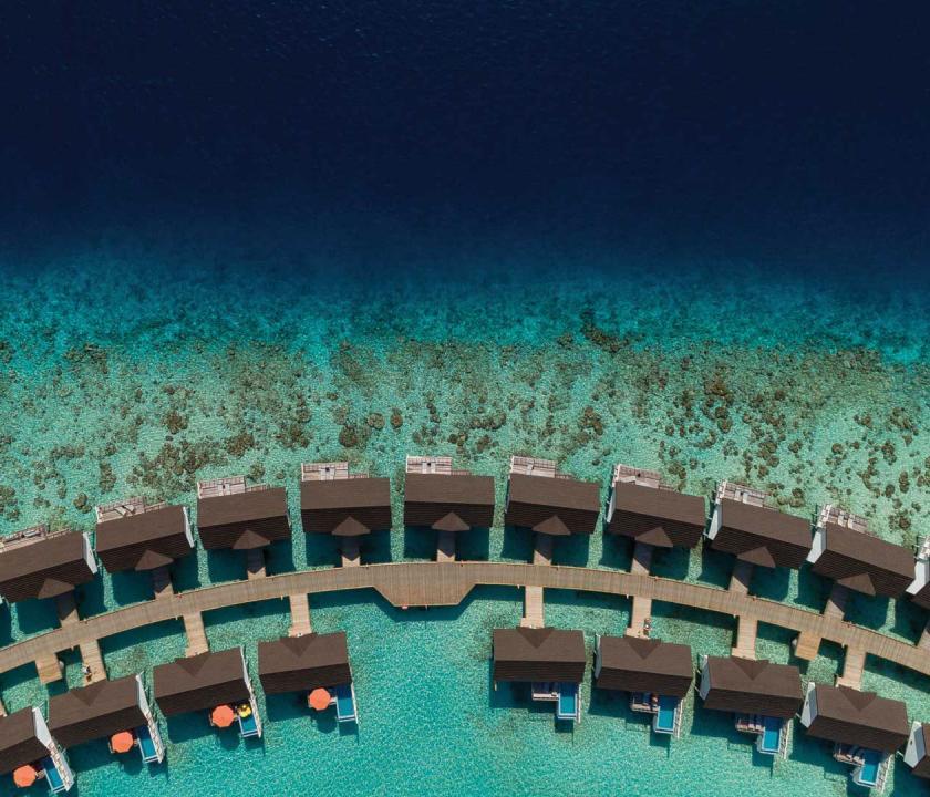 OBLU SELECT at Sangeli by Atmosphere / Water Villa - a villa kívülről (Maldív-szigeteki utazások)