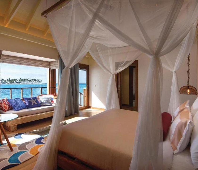 OBLU SELECT at Sangeli by Atmosphere / Water Villa - hálószoba (Maldív-szigeteki utazások)