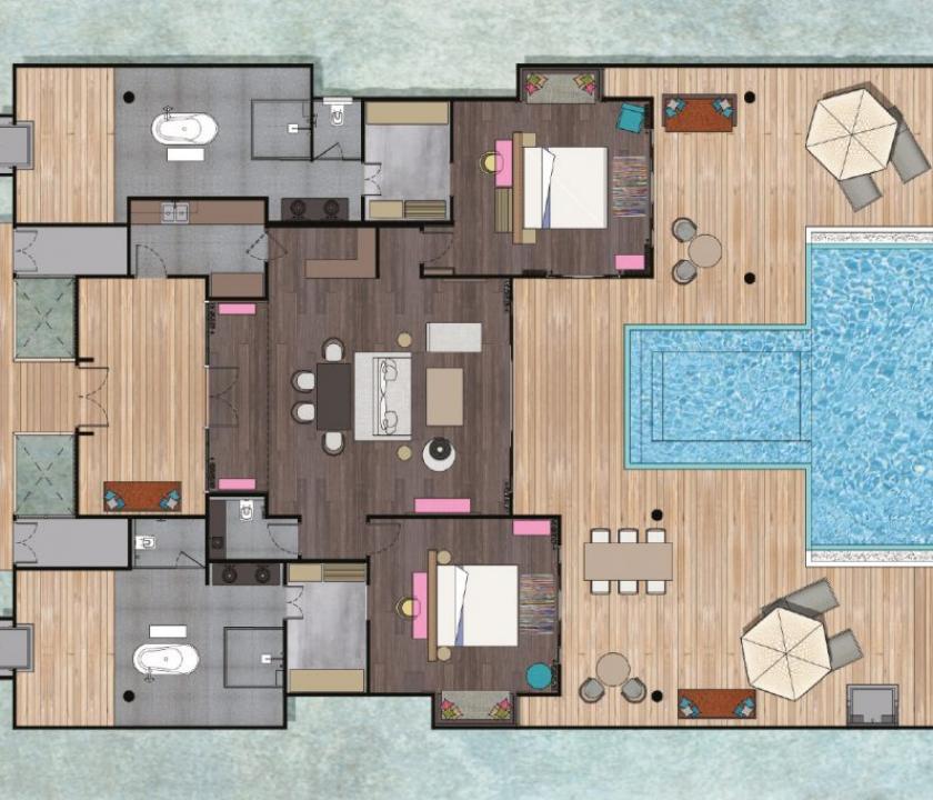 Seaside Finolhu / 2 Bedroom Water Villa with Pool (Maldív-szigeteki utazások)