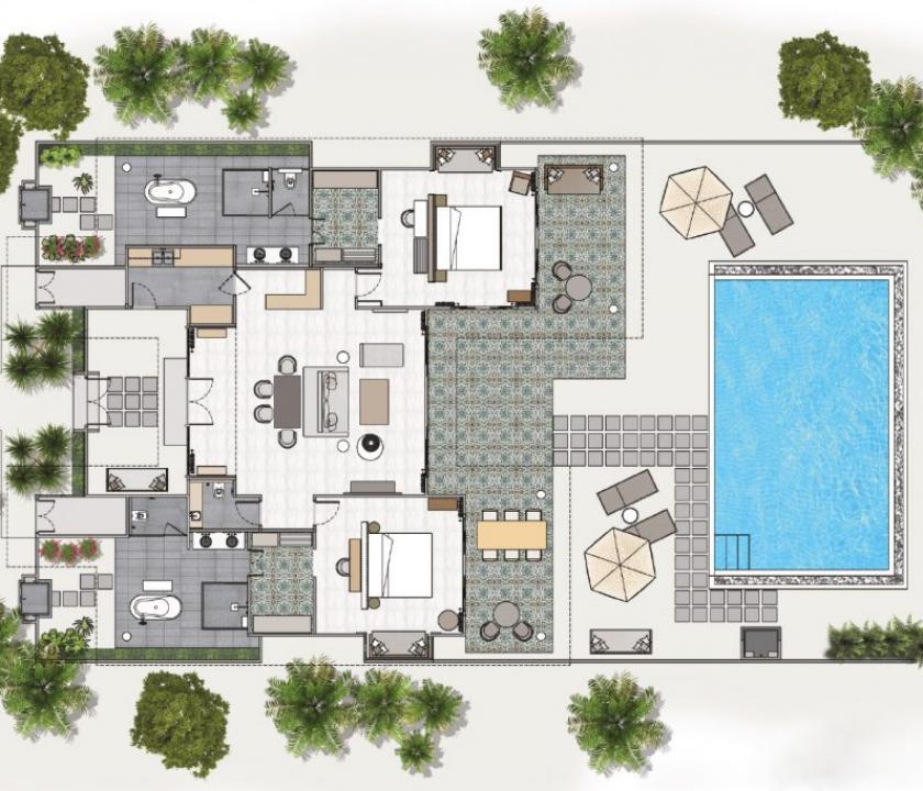 Seaside Finolhu / 2 Bedroom Beach Villa with Pool (Maldív-szigeteki utazások)