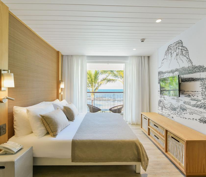 Canonnier Beachcomber Golf Resort & Spa / Family Duplex Sea Facing room - hálószoba (Mauritiusi utazások)