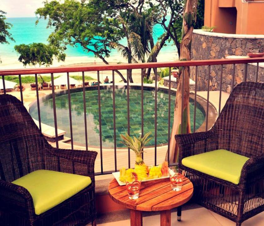 Tamarina Golf & Spa Boutique Hotel / Deluxe Sea side room - terasz (Mauritiusi utazások)