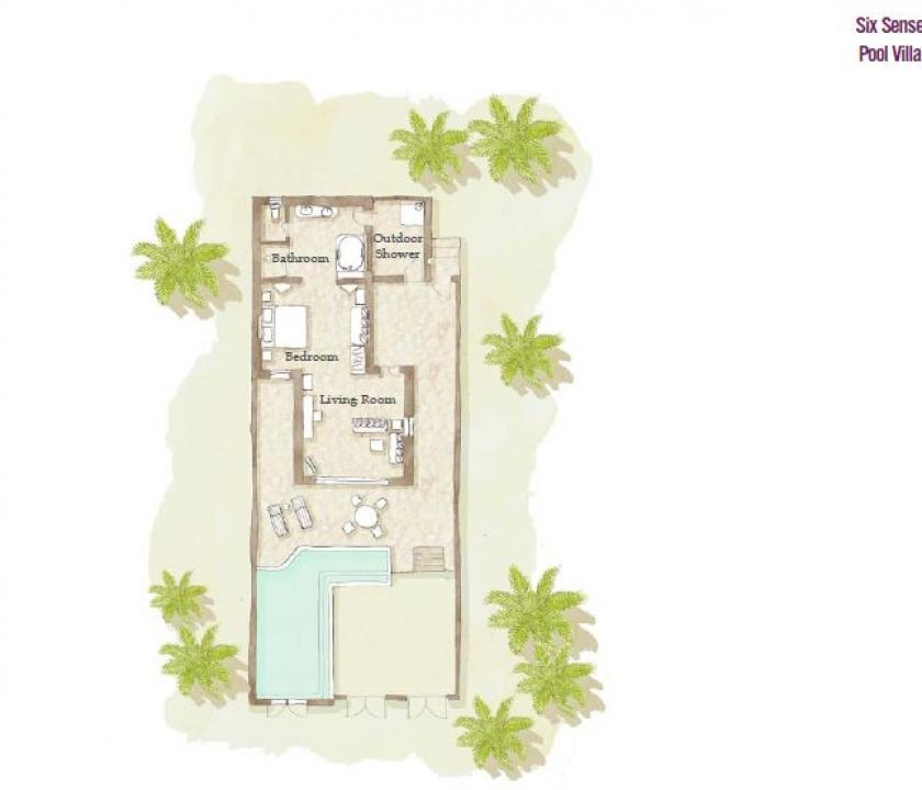 Six Senses Zighy Bay / Pool Villa Beachfront (Ománi utazások)