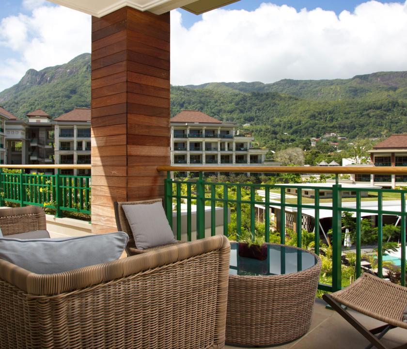 Savoy Resort & Spa / Junior Suite - kilátás a teraszról (Seychelle szigeteki utazások)