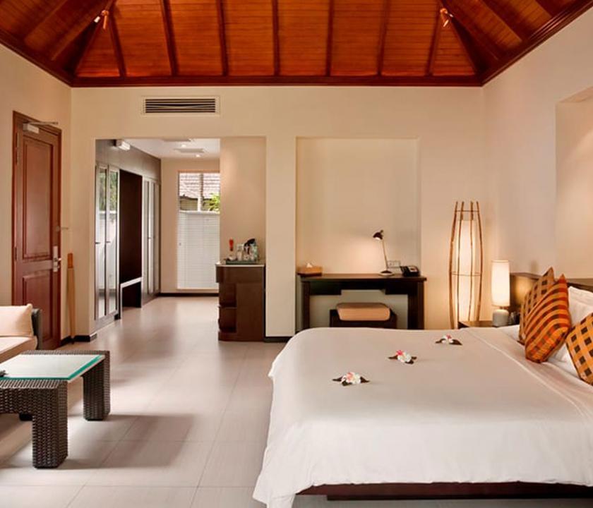Hilton Seychelles Labriz Resort & Spa / Garden villa - hálószoba (Seychelle szigeteki utazások)