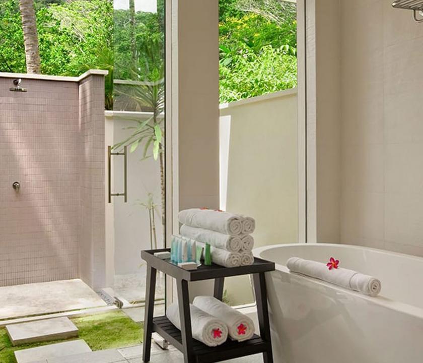 Hilton Seychelles Labriz Resort & Spa / Garden villa - fürdőszoba (Seychelle szigeteki utazások)