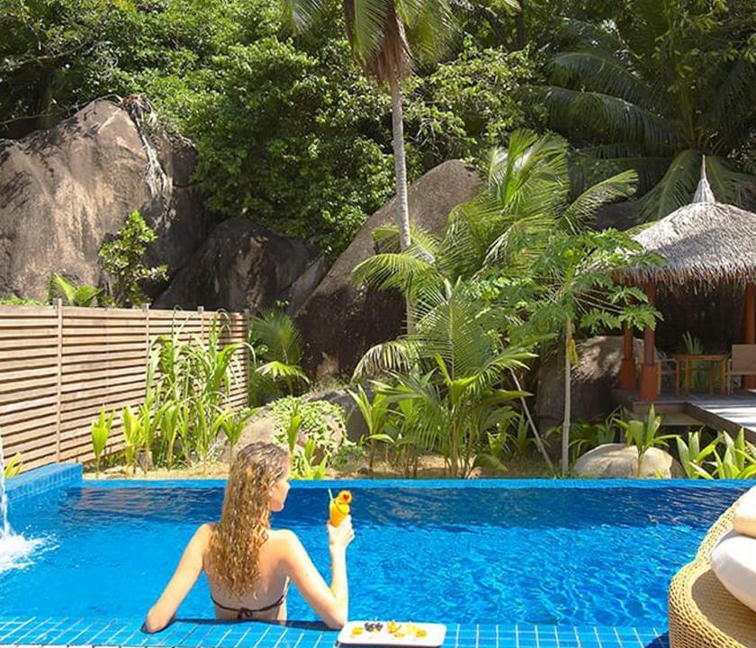 Hilton Seychelles Labriz Resort & Spa / King Sanctuary Pool Villa - privát medence (Seychelle szigeteki utazások)