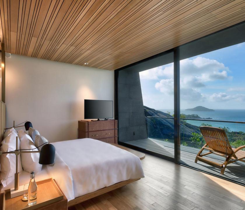 Six Senses Zil Pasyon Hotel / Four bedroom residence - hálószoba (Seychelle szigeteki utazások)