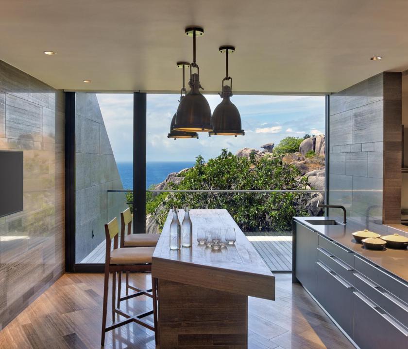 Six Senses Zil Pasyon Hotel / Four bedroom residence - konyha (Seychelle szigeteki utazások)