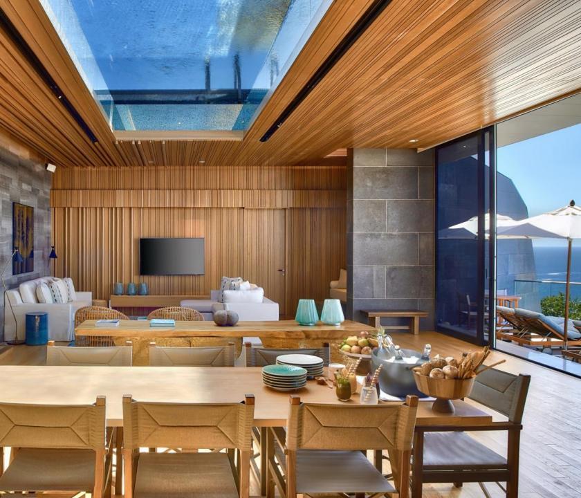 Six Senses Zil Pasyon Hotel / Four bedroom residence - étkező (Seychelle szigeteki utazások)