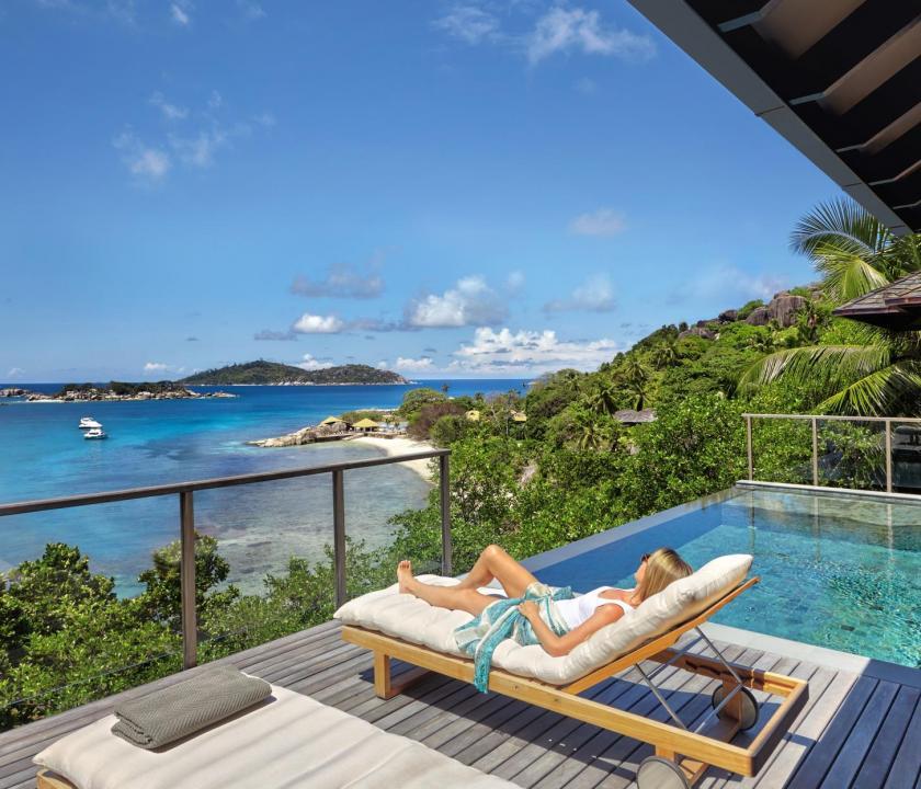 Six Senses Zil Pasyon Hotel / Oceanfront pool villa - terasz (Seychelle szigeteki utazások)