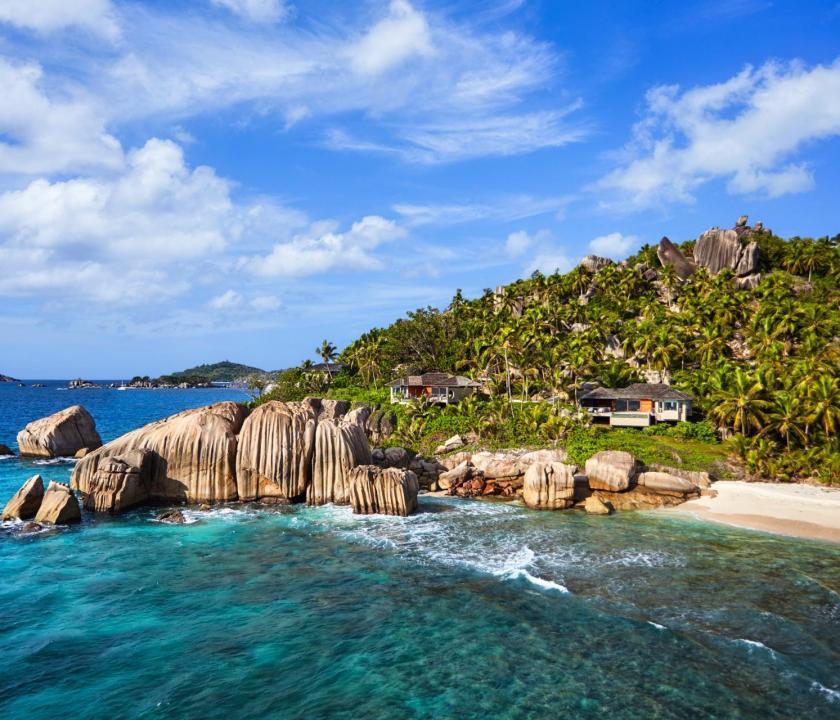 Six Senses Zil Pasyon Hotel / Pasyon pool villa - panoráma nézet (Seychelle szigeteki utazások)