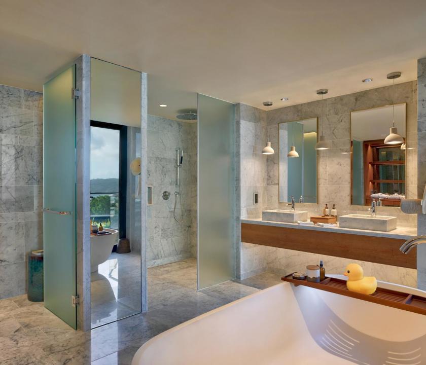 Six Senses Zil Pasyon Hotel / Three bedroom residence - fürdőszoba (Seychelle szigeteki utazások)