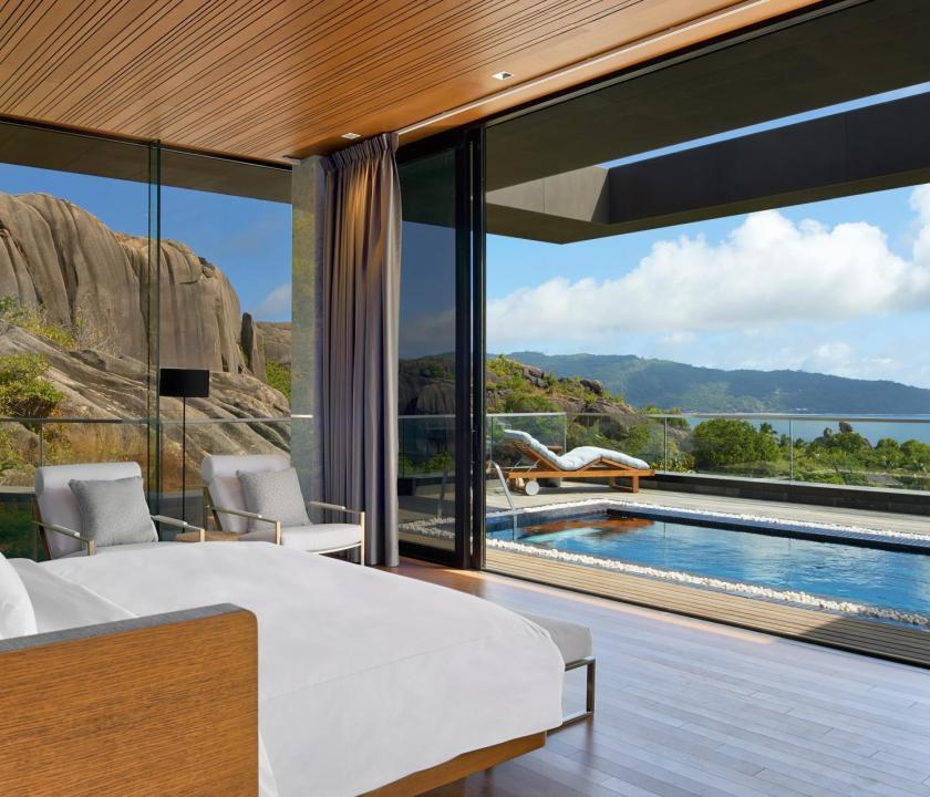 Six Senses Zil Pasyon Hotel / Three bedroom residence - hálószoba (Seychelle szigeteki utazások)
