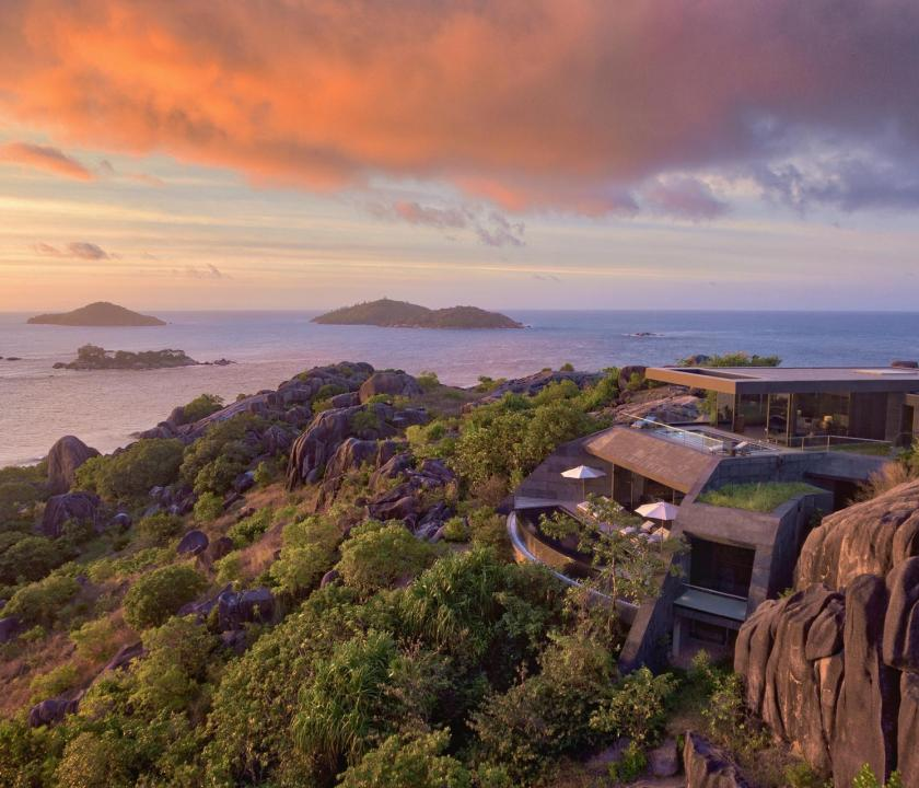 Six Senses Zil Pasyon Hotel / Three bedroom residence - panoráma (Seychelle szigeteki utazások)