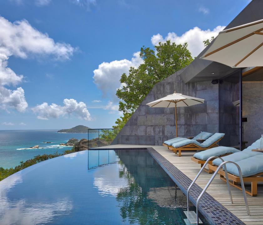 Six Senses Zil Pasyon Hotel / Three bedroom residence - terasz (Seychelle szigeteki utazások)