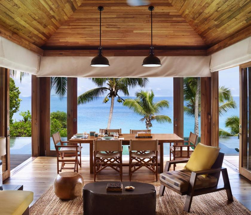 Six Senses Zil Pasyon Hotel / Two bedroom pool villa - étkező (Seychelle szigeteki utazások)