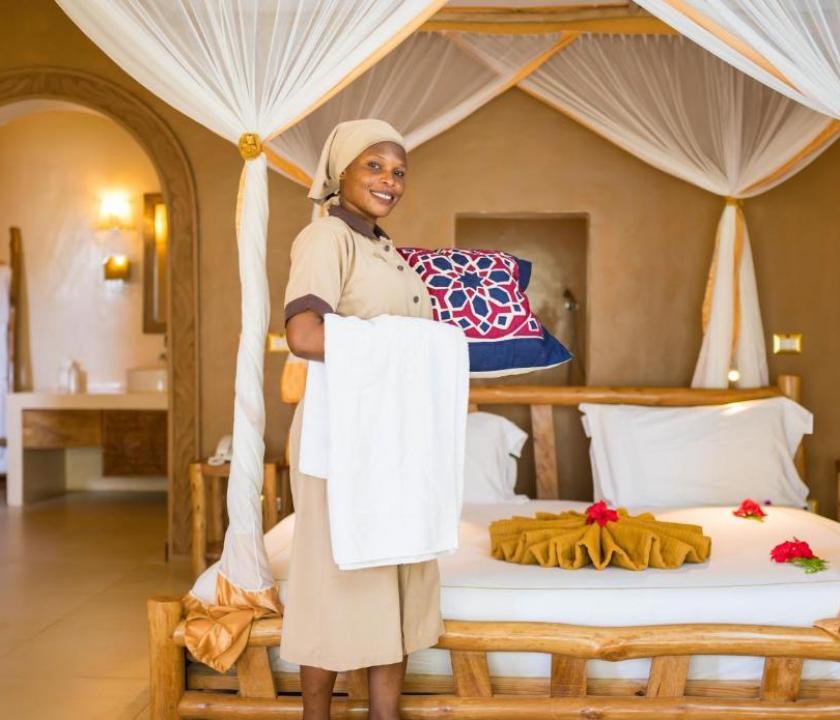 Gold Zanzibar Beach House & Spa / Deluxe Ocean View room (Zanzibári - Tanzániai utazások)